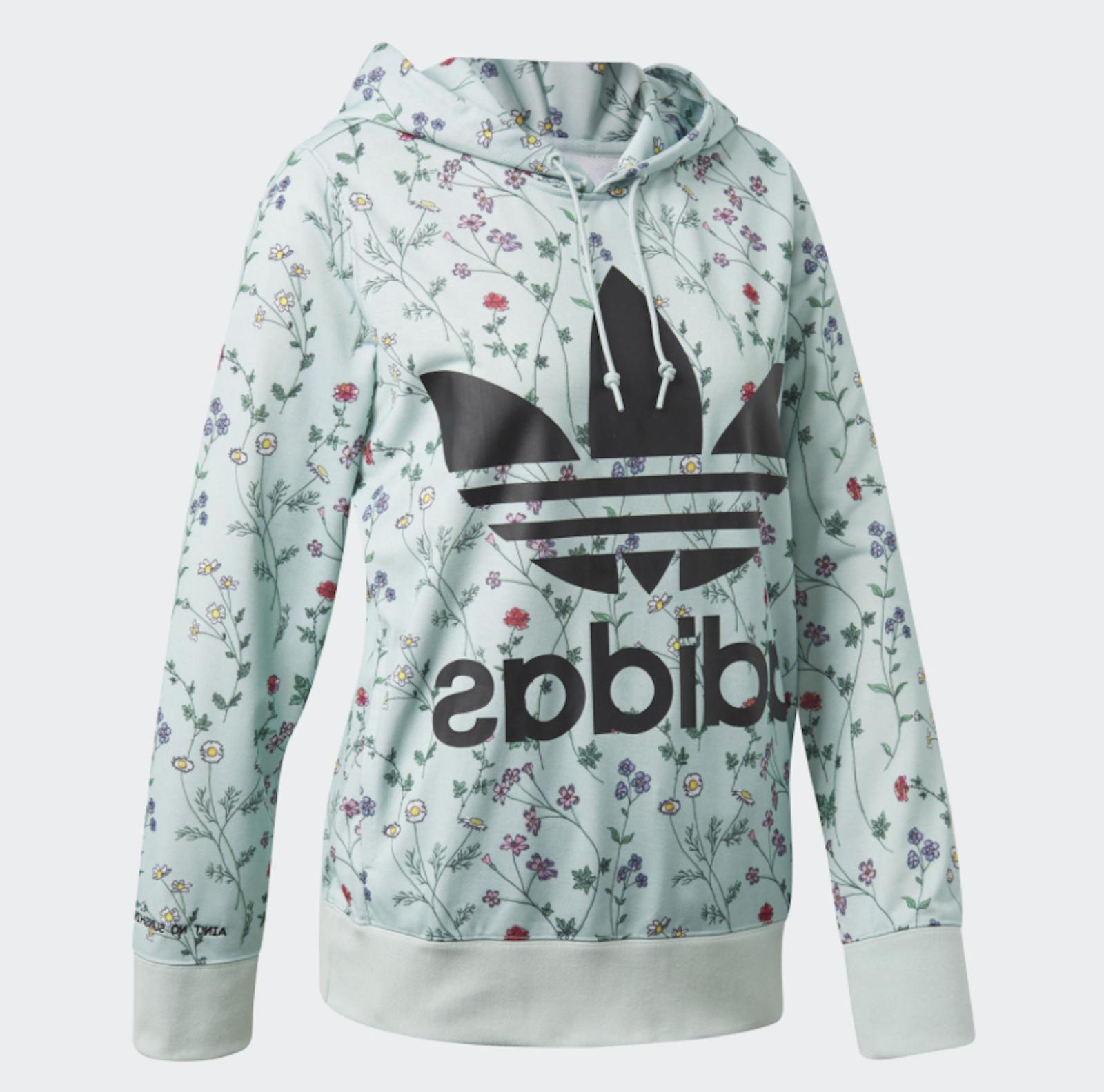 NEW ADIDAS ORIGINALS WOMEN'S TREFOIL OH HOODIE  ~SIZE LARGE