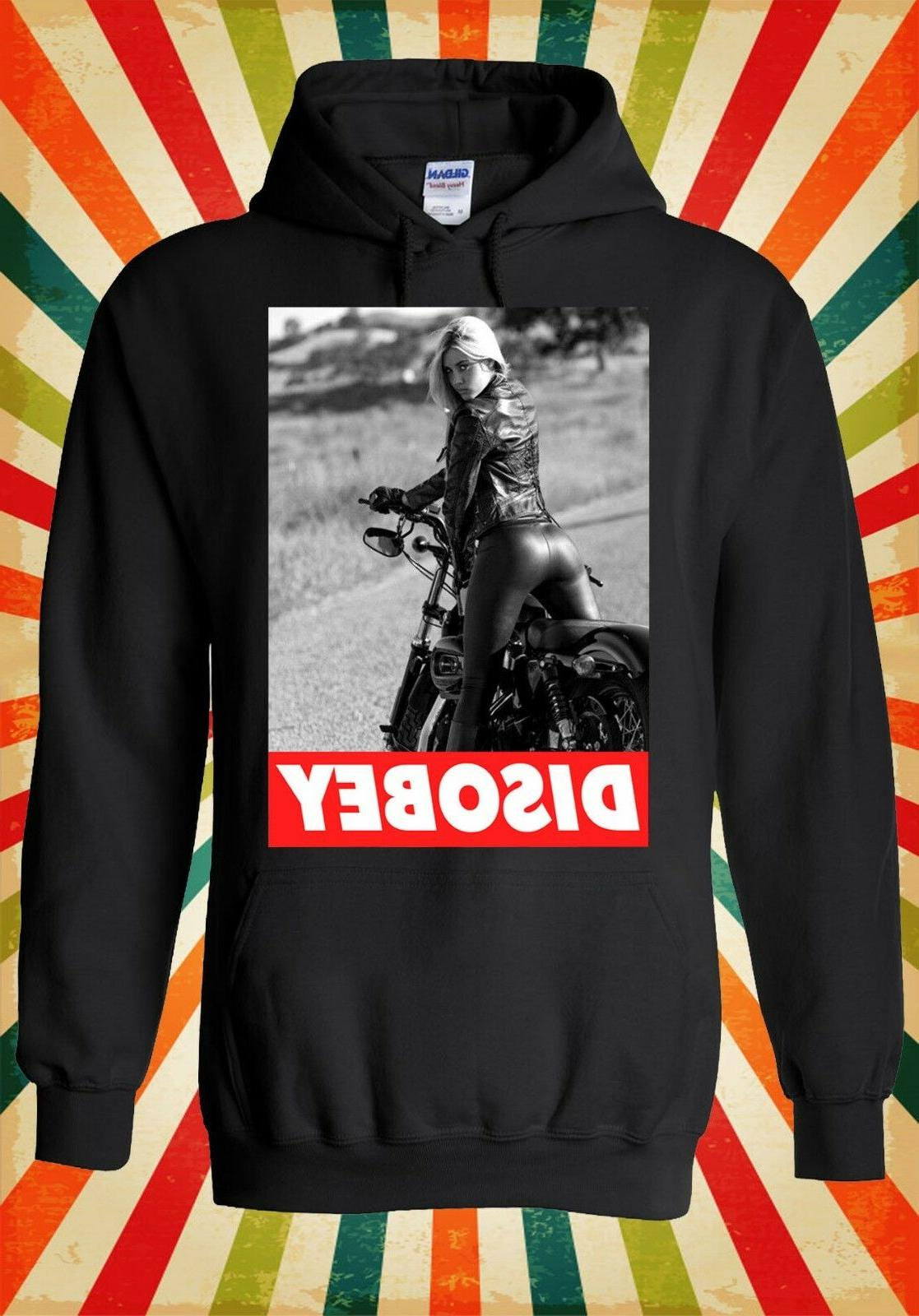 Sexy Bike Girl Riding Funny Novelty Men Women Unisex Top Hoo