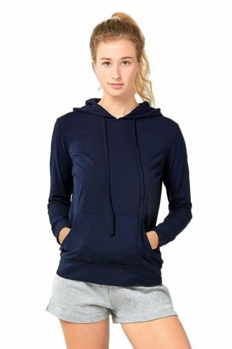 Sofra Teejoy Women's Thin Cotton Pullover Hoodie Sweater