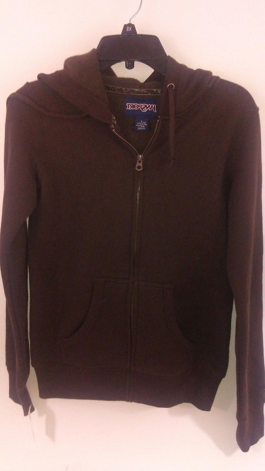 WOMEN'S JANSPORT HOODIE BROWN NEW WITH TAG SIZE SMALL