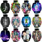 Women Men Funny Rick and Morty Pullover Print Hoodie 3D Casu