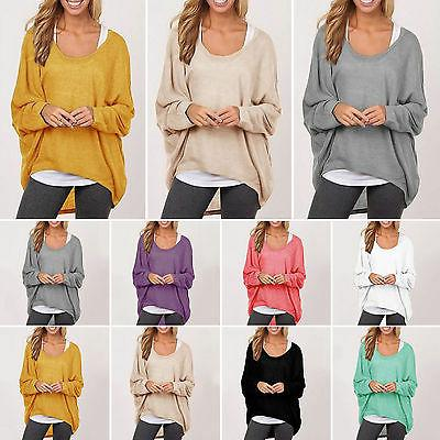 Women Sleeve Pullover T-shirt Loose Baggy Casual Tops Jumper