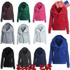 Women Zipper Tops Hoodie Hooded Sweatshirt Ladies Coat Jacke