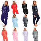Womens Plain Plus Size Adult Hoody Ladies All In One Jumpsui