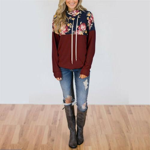 Women Long Sweater Hoodies Pullover Hooded Tops