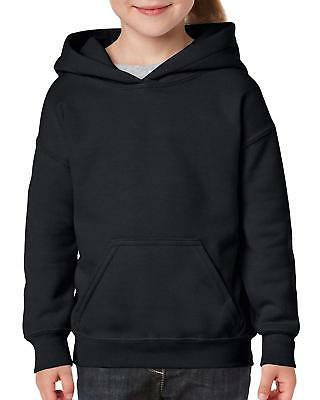 Gildan Big Kids Hooded Youth Sweatshirt, Black, Large