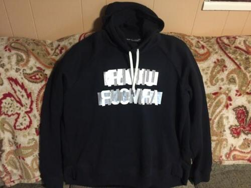black pullover hoodie size women s xl