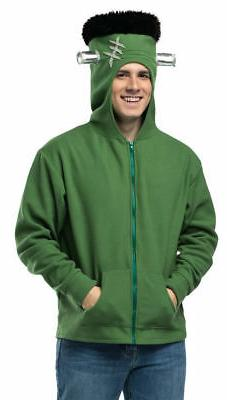 Deluxe Green Frankenstein Adult Fleece Hoodie Costume Access