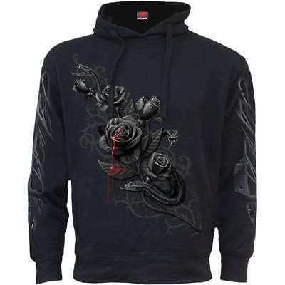 fatal attraction side pocket stitched hoody black