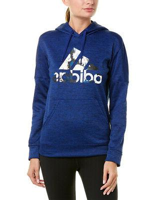 floral badge of sport hoodie blue women