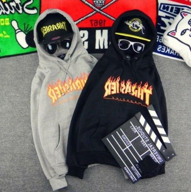 Men Women Hoodie Sweater Hip-hop Skateboard Thrasher Sweatsh