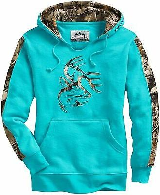 legendary whitetails women s camo outfitter hoodie
