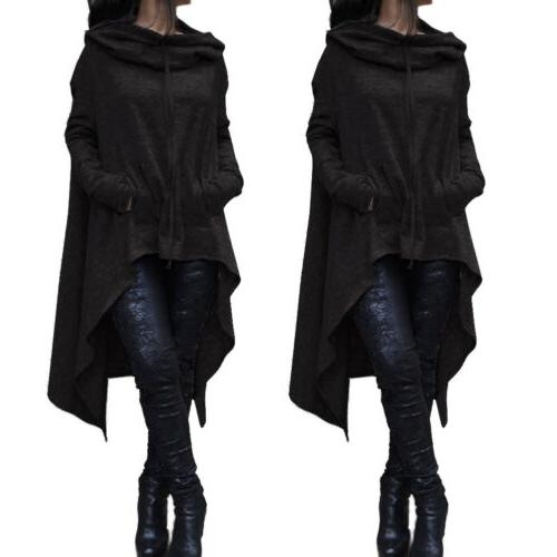 Long Tunic Top Womens Pullover Hooded