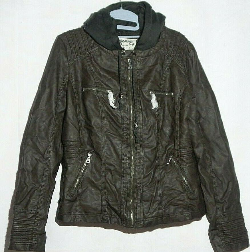 mbj womens faux leather bomber motorcycle jacket