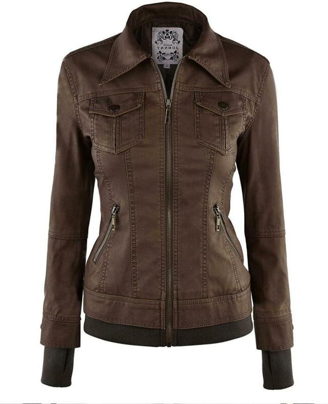 Made Womens Faux Leather