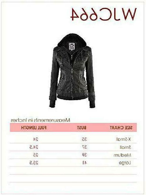Made Womens Faux Leather Jacket