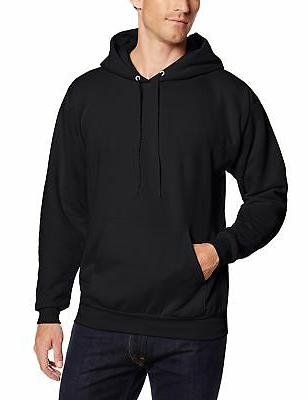 men s pullover ecosmart fleece hooded sweatshirt
