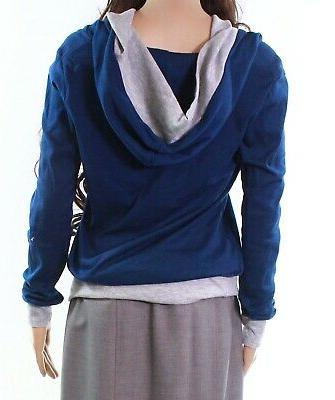 Timeson NEW Blue Women's Size Medium Trim Pullover #293
