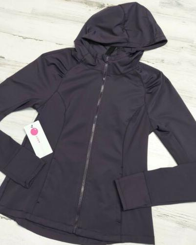 NEW Yogalicious Women's Long Sleeve Zip Up Hoodie MSRP 98