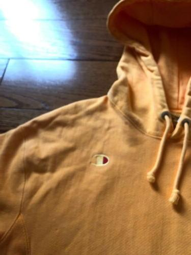 NWOT Champion Reverse Hoodie Women's Medium Orange Pigment Sweatshirt