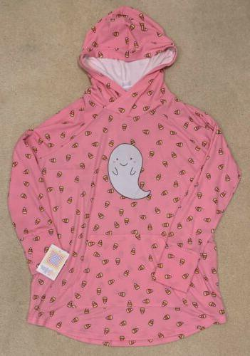 NWT Hoodie Pink Candy Corn Ghost Creepin XXL NEW
