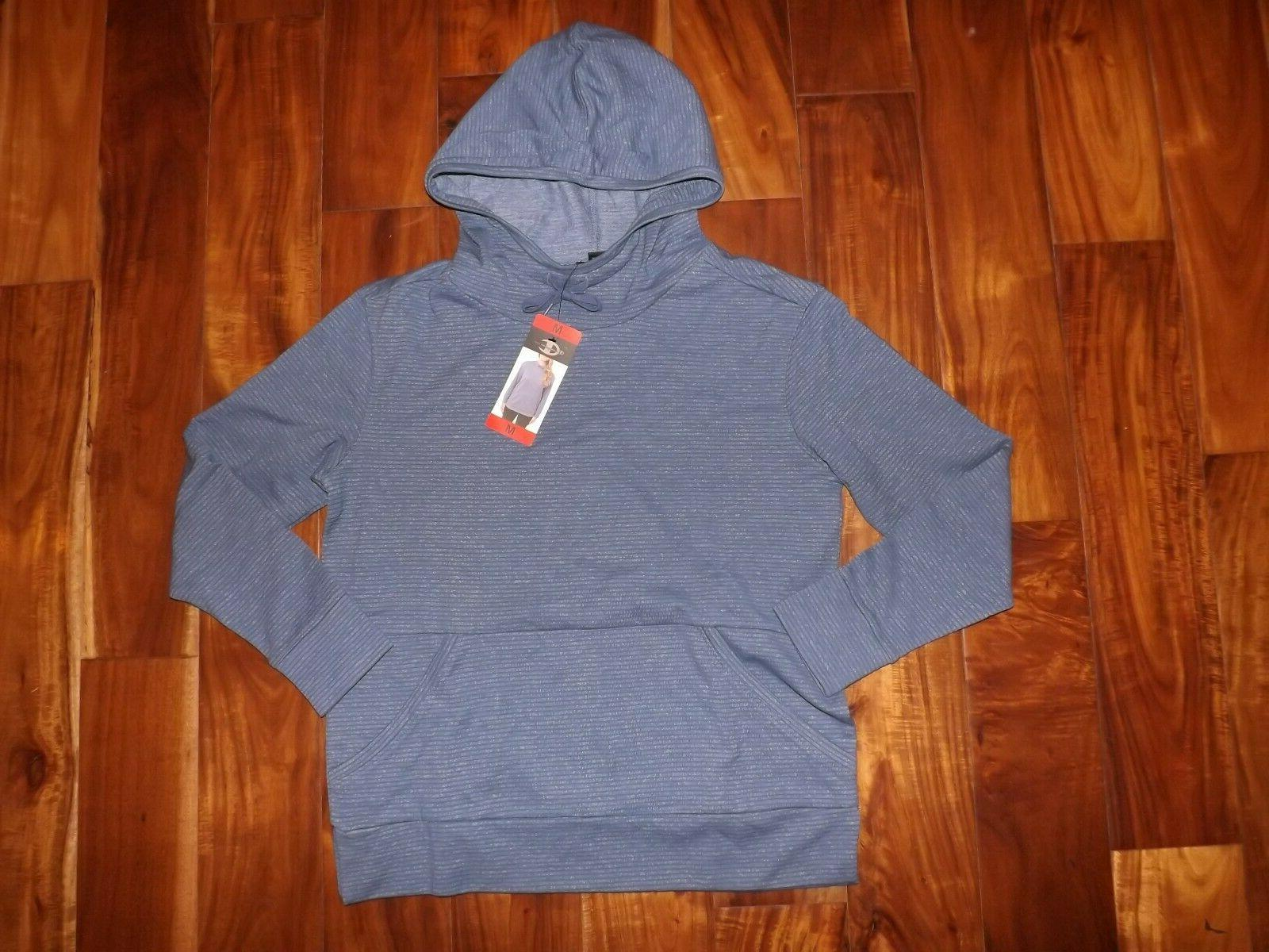 nwt womens blue striped pullover hoodie jacket