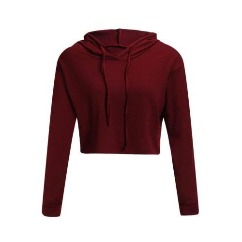 S-XL Jumper Sweater Crop Coat Sports Pullover