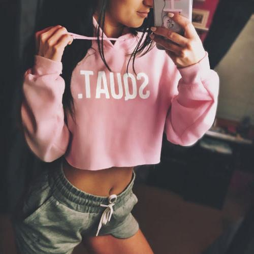 Sexy Hoodie Sweatshirt Jumper Sweater Coat Sports Pullover Tops