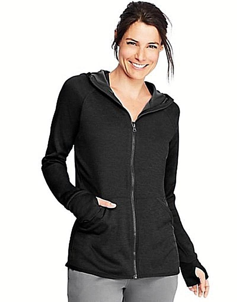 Hanes Sport3; Women's Performance Fleece Full Zip Hoodie Bla