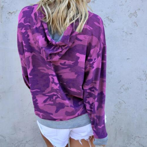 Women's Casual Long Sleeve Hoodie Jumper Pullover Coat Shirts