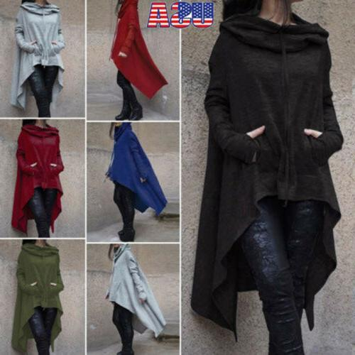 Women Winter Hoodie Long Hooded Top Casual Sweatshirt Sweate