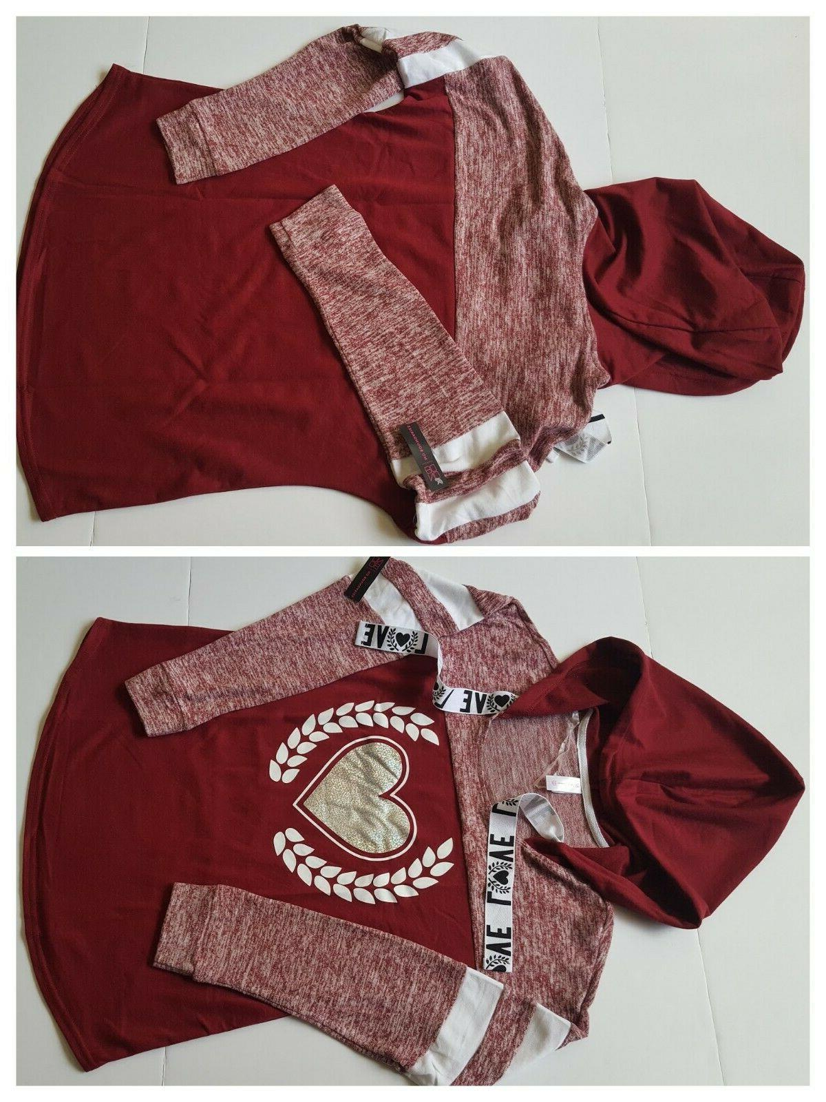 women hoodie long sleeve shirt burgundy pick