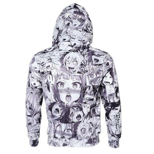 Men Fashion Ahegao 3D Print Pullover Cool New