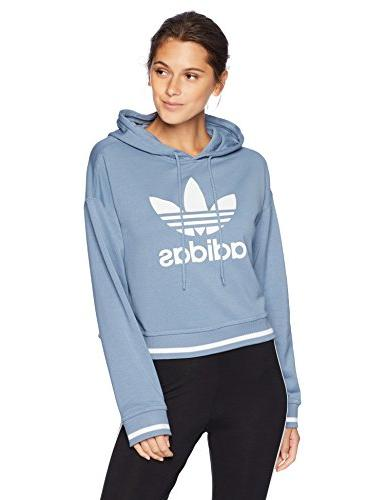 women s active icons cropped hoodie raw