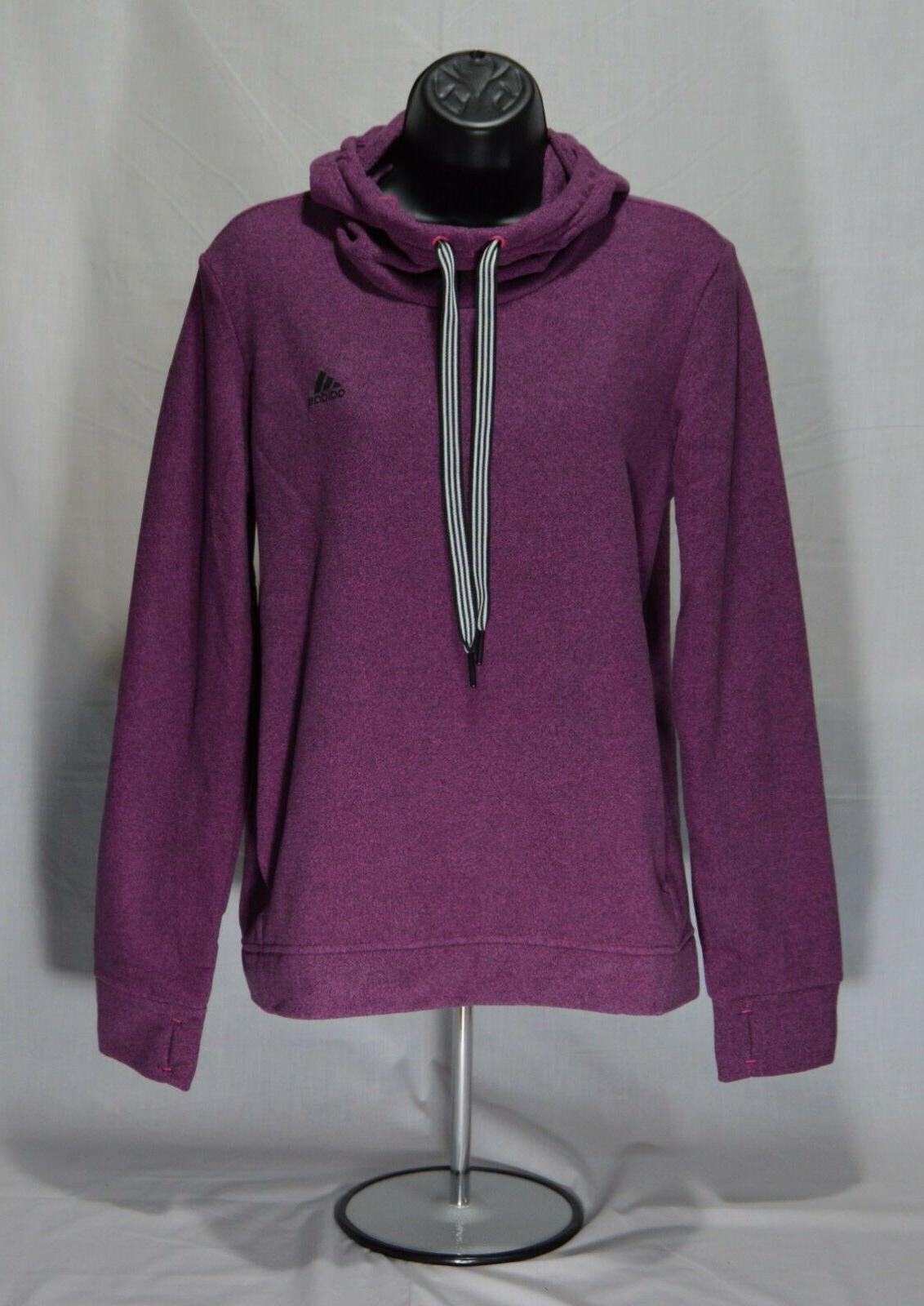 Adidas Women's Active Trans Hoodie Sweater Purple Size Small