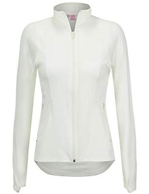 Regna X Women's Full Zip Up Active Seamed Athletic Gym Track