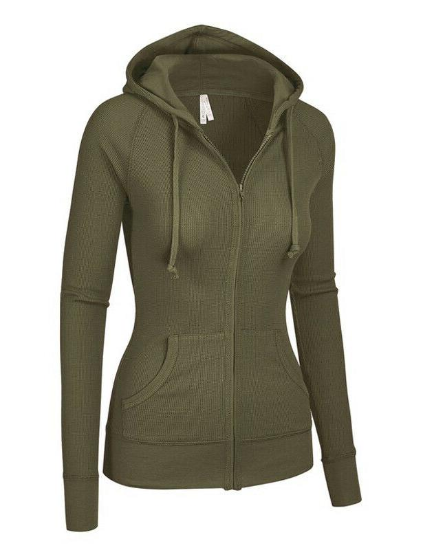 Women's Hoodie Long Sleeve Thermal Up Cotton