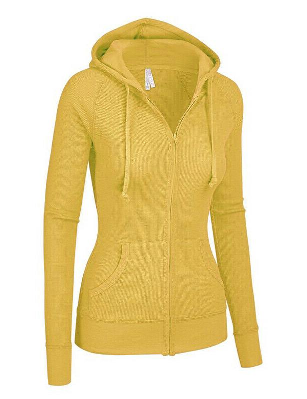 Women's Hoodie Thermal Up Pockets