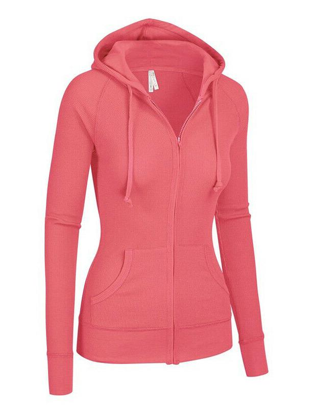Women's Long Sleeve Thermal Up Pockets