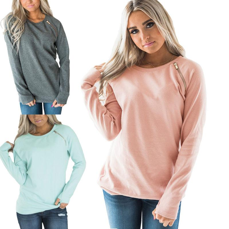 Women Winter Hoodie Jumper Hooded Casual Long Sleeve
