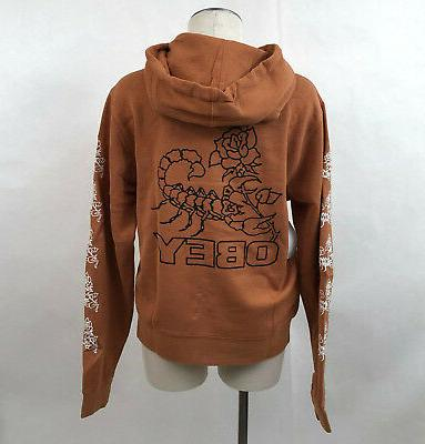 women s pigment hoodie scorpion rose cowhide