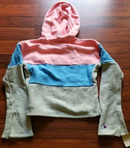 Champion Reverse Cropped Blue New NWT