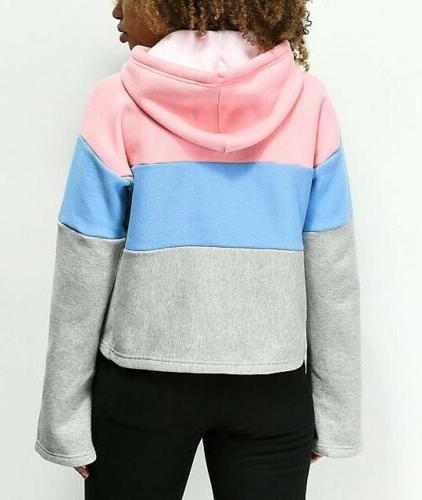 Champion Reverse Weave Cropped Pink Blue NWT