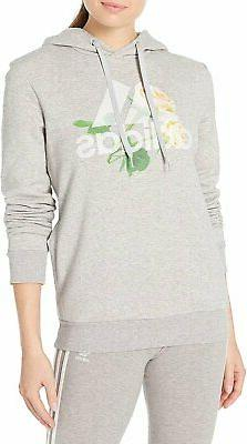 adidas Women's Work in Progress Floral Badge of Sport Hoodie