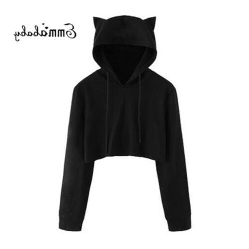 Women Crop Top Coat Sports Pullover