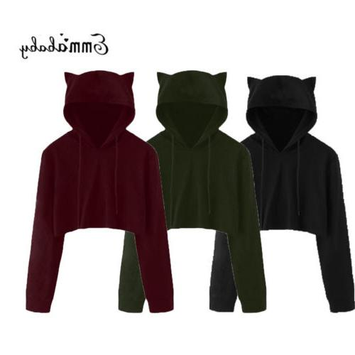 Women Sweatshirt Sweater Crop Coat Pullover