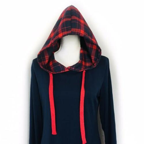 DJT WOMEN'S HOODIE 2 In BLOUSE TOP/SIZE NWT