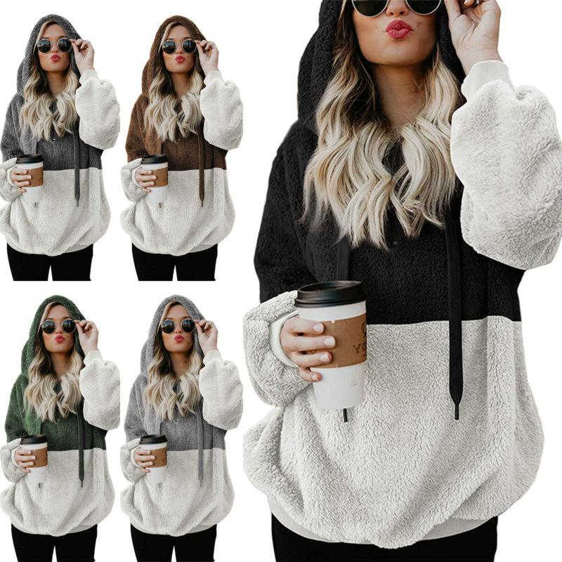 Plus Women's Warm Teddy Bear Sweater Coat Top