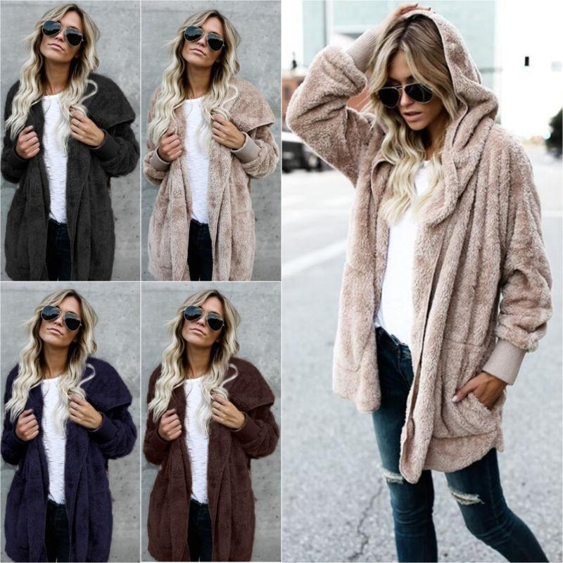 Plus Size Teddy Sweater Coat Jacket Outwear Top