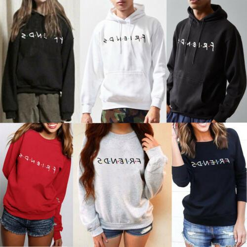 Womens FRIENDS Hoody Pullover Sweater Jumper